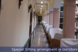 Special sitting arrangement in corridors