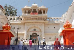 Lord Brahma Temple in Pushkar, Rajasthan
