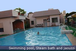 Swimming Pool, Steam Batd and Jacuzzi